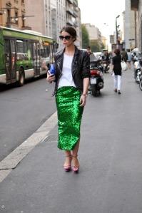milan-fwss2013-green-pailettes-skirt