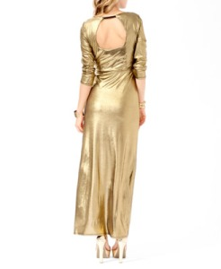 Forever-21-Gold-Lame-Maxi-Dress-3